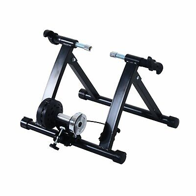 Magnetic Indoor Bike Bicycle Trainer Stand Exercise Fitness Workout Black