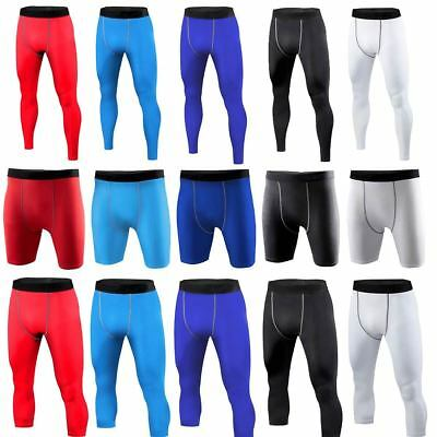 Mens Compression Under Skins Shorts Pants Leggings Joggers Gym Trousers Bottoms