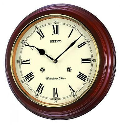 Seiko Westminster/Whittington Chime Wall Clock QXH202B