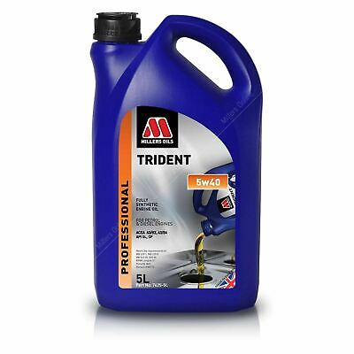 Millers TRIDENT 5W-40 Fully Synthetic Engine Oil 5 Litres - 5w40 5L