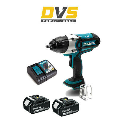 "MAKITA DTW450Z CORDLESS 18V 1/2"" IMPACT WRENCH 440Nm 2 x 3AH BATTERIES CHARGER"