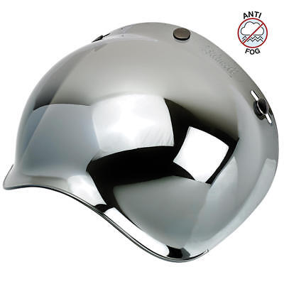 Biltwell Bubble Visor For Gringo/Bonanza Helmets - Chrome Mirror (Bs-Chr-Af-Sd)