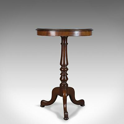 Antique Wine Table, English, Regency, Circular, Side, Mahogany Circa 1830