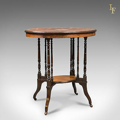 Antique Side Table, Victorian Rosewood, English, Lamp, Occasional c.1880