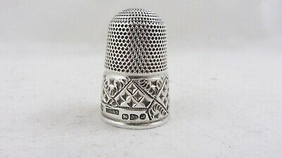 Antique English Silver Thimble Chester HG&S 1894 Large size 17 Thick Silver