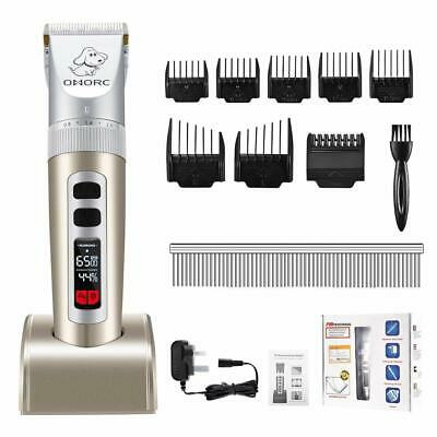 OMORC Cordless Dog Clippers, Professional Grooming Clippers with Large LCD NEW