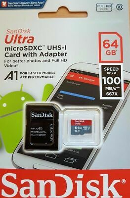 San Disk Class 10 Ultra 64GB 100MB/s Micro SD SDHC Memory Card UHS-I - UK