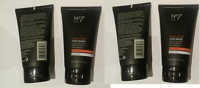 Brand new No7 Men Energising Face Wash 4 pack of 150ML = 600ML