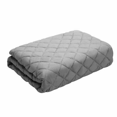 Giselle Bedding Cotton Weighted Blanket Zipped Cover Washable Adult 152x203cm Li