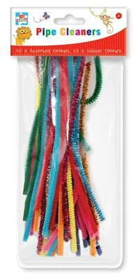 40X Assorted Coloured Pipe Cleaners Kids Arts And Crafts Pcln/2