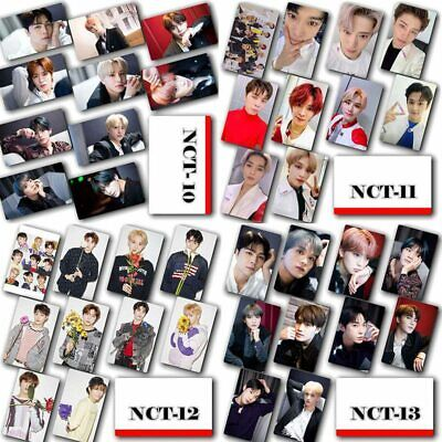 10 pcs/set KPOP NCT Crystal Card Stickers Photocards Fans Gift#wno #cr