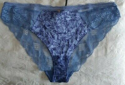 BNWT MARKS /& SPENCER ROSIE FOR AUTOGRAPH BRAZILIAN KNICKERS WITH SILK HONEY S16
