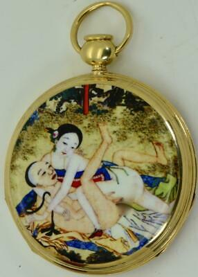 Qing Dynasty Chinese 18k gold&Eroric enamel Pump Repeater Breguet caliber watch