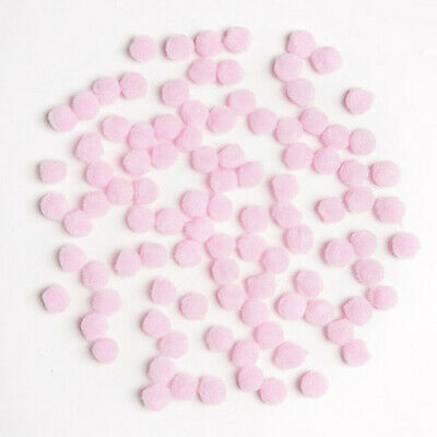 Pack of 100 Baby Pink Pom Poms 0.5""