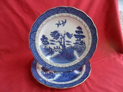 """Royal Doulton Booths Real Old Willow, 2 x 10.5"""" Dinner Plates"""