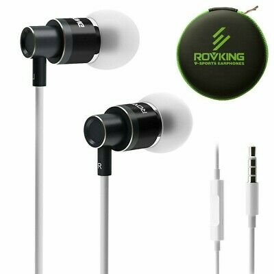 Box of 50x ROVKING Noise Isolating In Ear Headphones with Microphone and Case