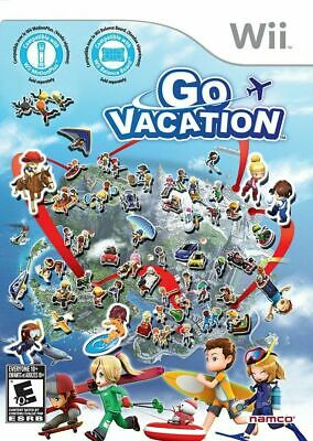 Go Vacation Nintendo Wii, NTSC, Family Friendly Action Party Game Brand New