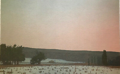 Russell CHATHAM original lithograph, Winter Dawn at South Park, S/D & numbered