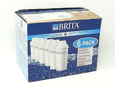 Brita Classic Replacement Water Filter Cartridges Water Jug   6 PACK