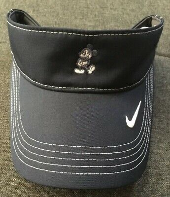 Disney Parks Mickey Mouse Icon Character Nike Dri-Fit Just Do It Sun Visor NWT