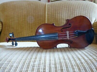 Fullsize 4/4 unlabelled 20th Century Violin with Dominant Strings