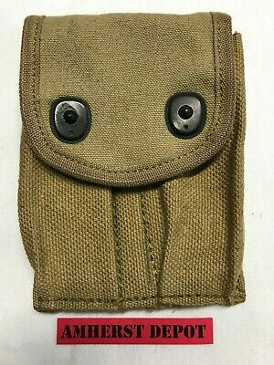 1911 Magazine Pouch WWI M1911 M1911A1 45 Mag Pouch Canvas US Army Dated USGI