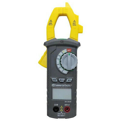 Commercial Electric DIGITAL CLAMP METER AC & DC Voltage 600V CAT III Non-Contact