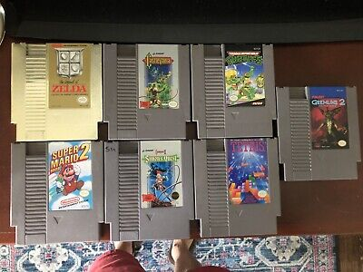 Nintendo Nes Video Games Lot Super Mario 2 Zelda Castlevania TMNT Tetris Bundle