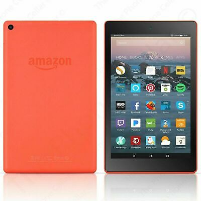 "Amazon Kindle Fire HD 8 Tablet with Alexa, 8"" HD Display 16 GB Orange L5S83A"