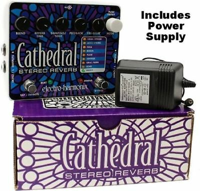 Electro-Harmonix Cathedral Stereo Reverb Guitar Effects Pedal EHX PRIORITY SHIP!