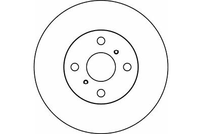 Mintex MDC1394 Pair Of Vented front Brake Disc Replaces 435120D050,435120D120