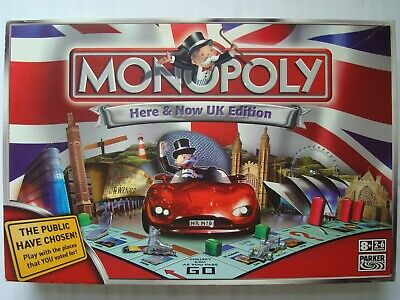 Monopoly Here & Now UK Edition Board Game by Parker Hasbro 2007 Complete