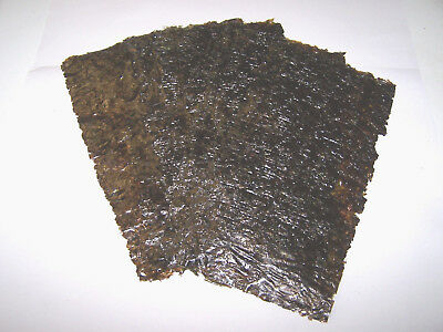 50 grams Slightly Damaged Dried Nori (Seaweed) Sheets - Marine Fish Food