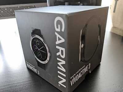New in Sealed Garmin Vivoactive 3  GPS Smartwatch Fitness Tracker BLK/Stainless
