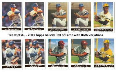 2003 Topps Gallery Hall of Fame (Both A&B Versions) Sets * Pick your Team * Read
