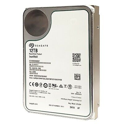 """12TB NAS Seagate Ironwolf ST12000VN0007 7200 RPM SATA 6Gb/s 256MB Cache 3.5"""""""
