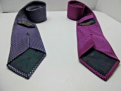 TWO BROOKS BROTHERS 346 Mens  Italian Woven 100% Silk Necktie Ties