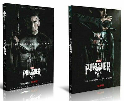 The Punisher Season 1-2  6 DVD Set Complete Series 60 Day Extended Warranty