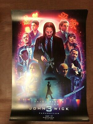 "John Wick: Chapter 3 - Parabellum Poster 13"" X 19""  Number 43 of 1000"