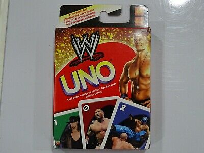 WWE Wrestling Edition UNO Card Game Complete 2010 Mattel *NEW* P7