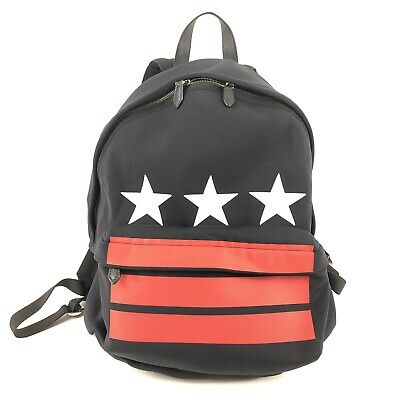 e9110a5deac GIVENCHY STARS AND Stripes Black Neoprene Backpack Mens