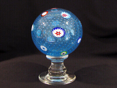 "Vintage MURANO GLASS NEWEL POST PAPERWEIGHT - 8"" TALL"