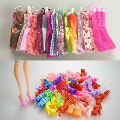 Mix Doll Clothes Fashion Dress Dolls Outfit Accessories 10pcs Kids Girls Toys