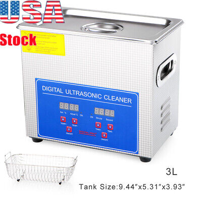 Hottest Stainless Steel 3L Liter Industry Heated Ultrasonic Cleaner Heater Timer