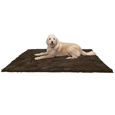 Furhaven Pet Dog Mat | Muddy Paws Absorbent Chenille Bath Towel & Shammy Rug for