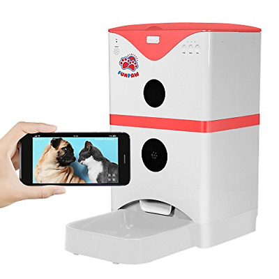 FUNPAW 6L Cat Dog Pet Smart Automatic Feeder with WiFi Camera 2-Way Speaking,