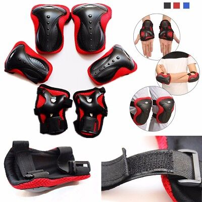 6Pcs Adult Knee Elbow Wrist Guard Pads Protectors Safety Gears Skating  New