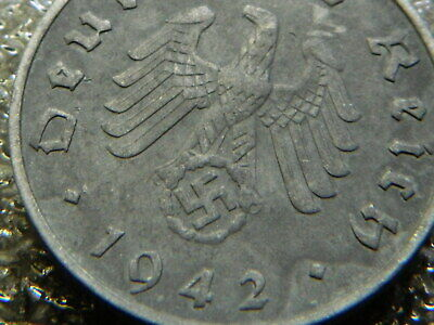 Rare Old Antique 1942 WW2 WWII Military Nazi Germany War Eagle Swastika Coin