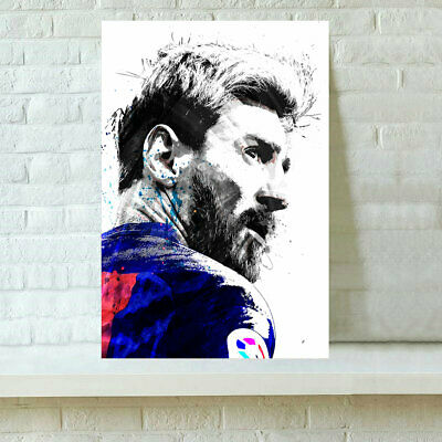 HD Print Oil Painting Home Decor on Canvas Lionel Messi 16x24inch Unframed
