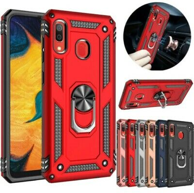 Samsung Galaxy A20 A30 A50 A70 Magnetic Ring Holder Case Rugged Heavy Duty Cover